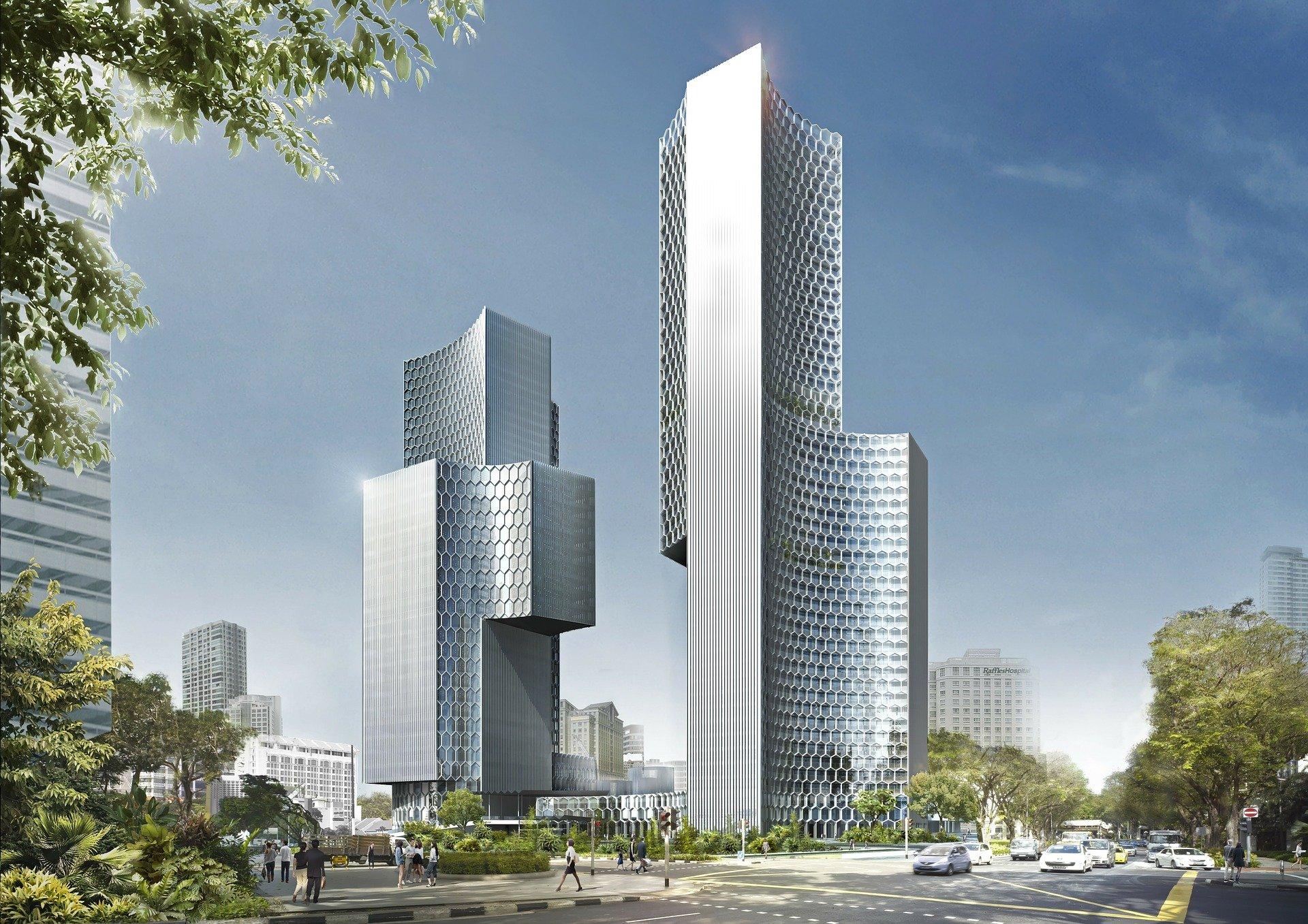 Grattacieli residenziali arredabili con il noleggio operativo